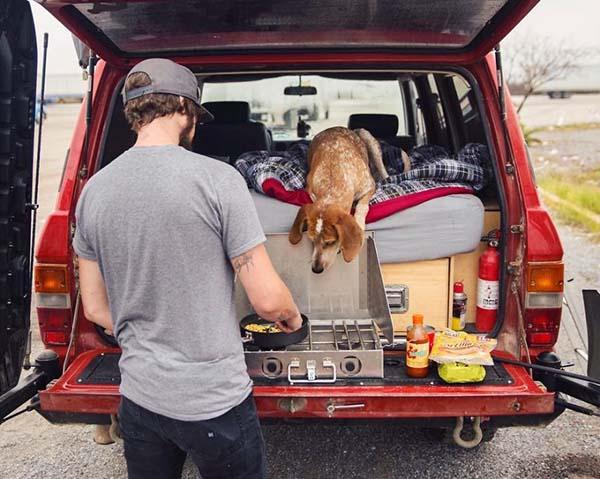 Un perro adoptado, el mejor compañero de viajes