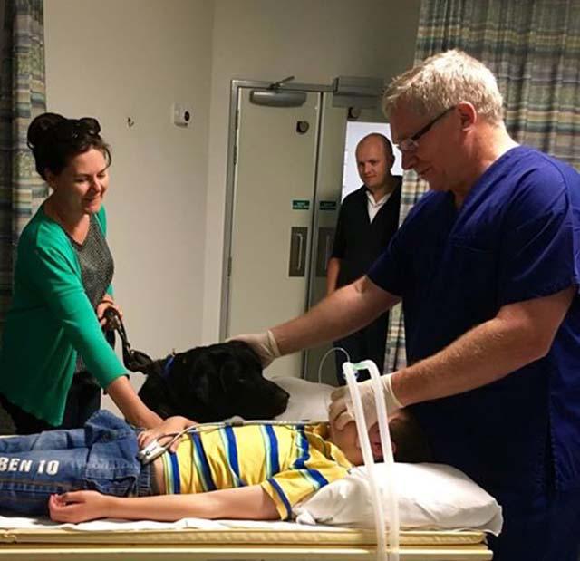 James en el hospital