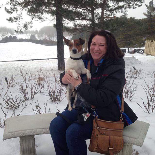 Perro adoptado en Canadá