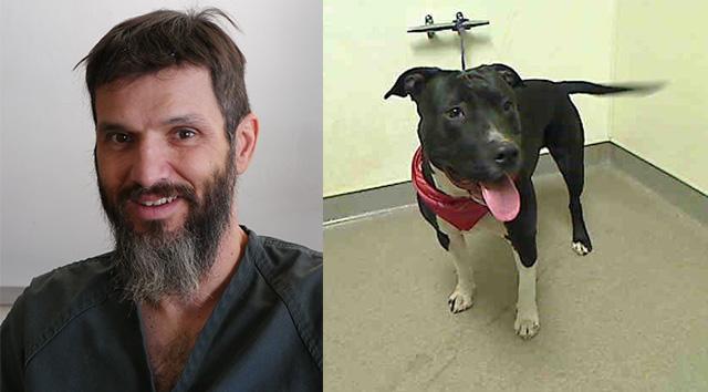 oficiales salvan la vida del perro de un preso
