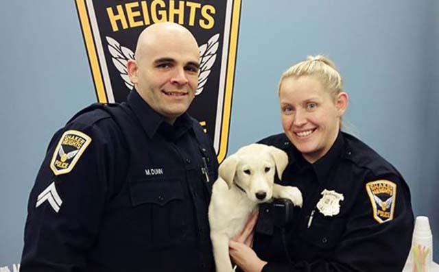 policías evitaron que el cachorro terminara en un refugio
