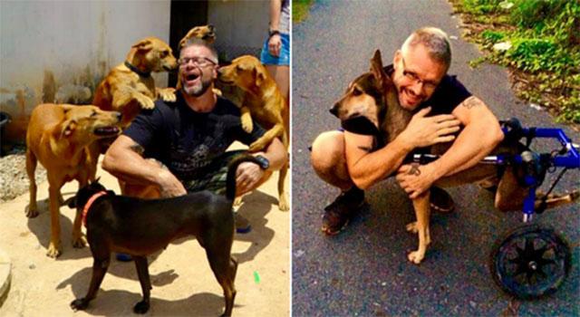 Michael, el hombre que protege perros en situación de calle en Tailandia