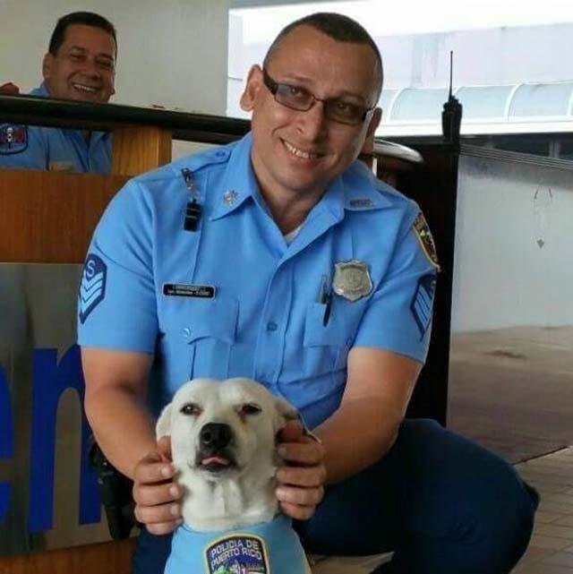 Gorgi y un policia