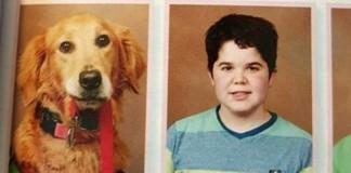 Perro de servicio en el anuario escolar