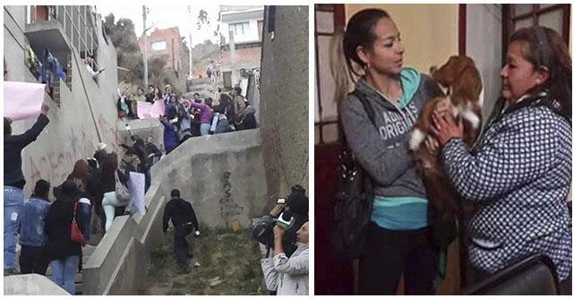 Activistas rescataron a un perro de una familia de maltratadores