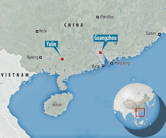 Animales con destino al festival de Yulin
