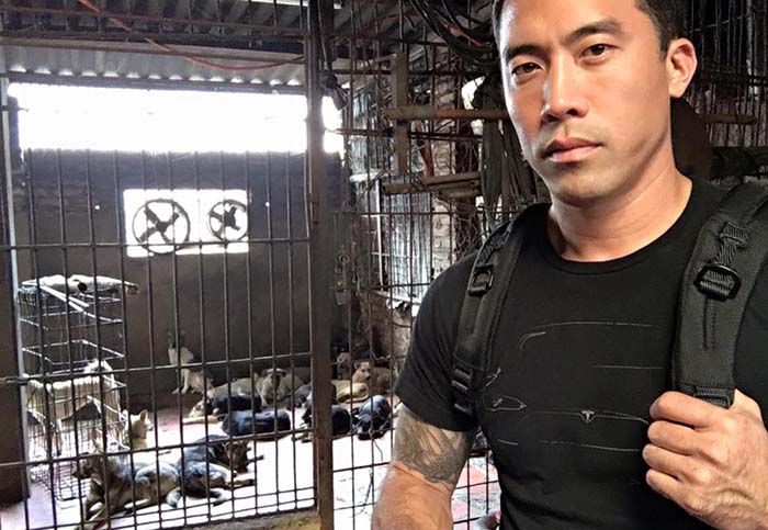 Marc Ching en un matadero