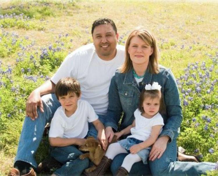 Corky y su familia en el 2009