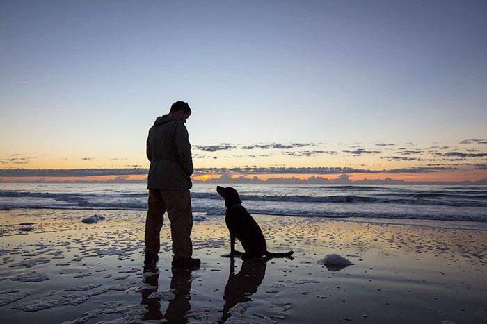 Hombre viaja junto a su perro con cáncer