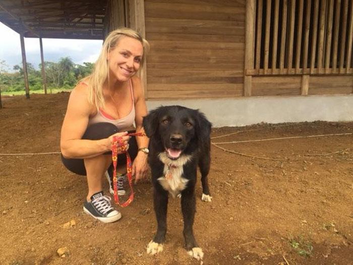 Patsy rescatada por Hope for Paws