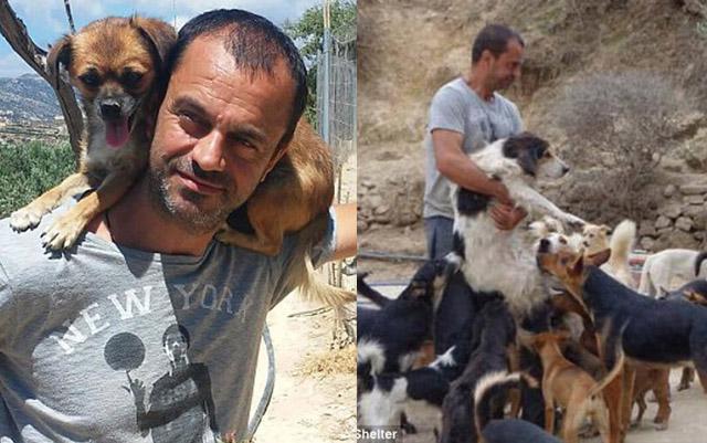 Este admirable hombre ha rescatado a más de 200 perros abandonados debido a la crisis financiera griega