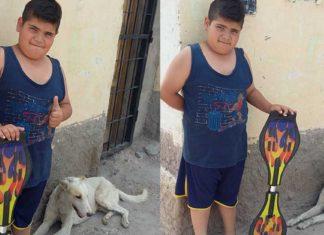 Niño salvó a un perro sin hogar ofreciendo su patineta por facebook