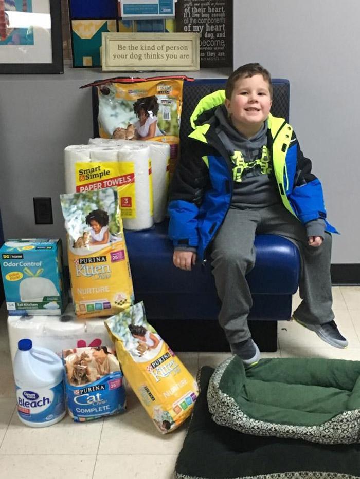 Bryce realizó una gran donación al refugio