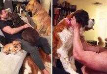 Este hombre vive con 9 animales y piensa adoptar a más