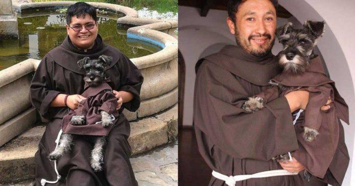 Este perro fue adoptado por franciscanos y es llamado Fray Bigotón