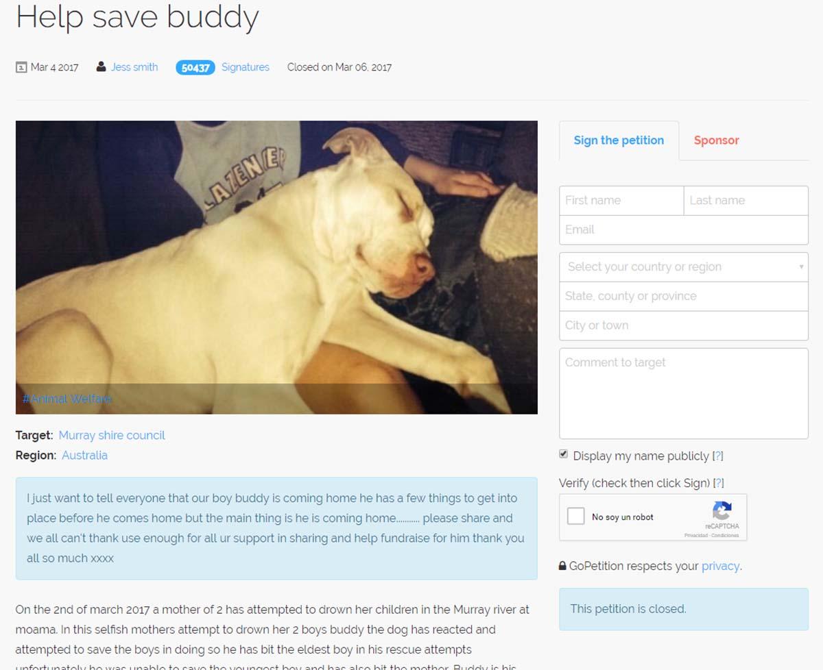 Petición Buddy