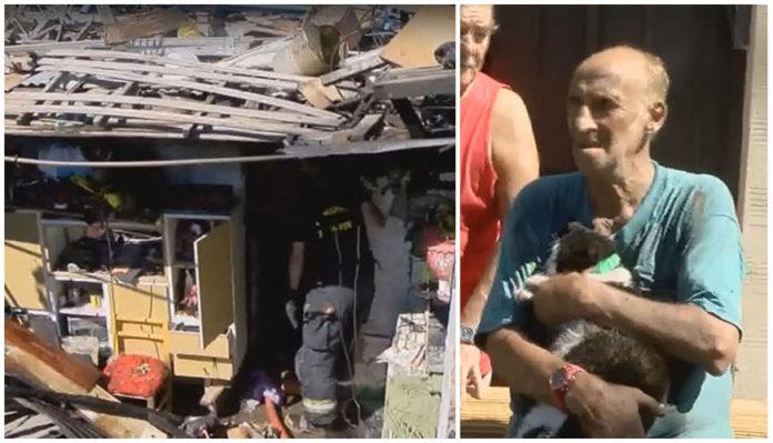 Su gata lo salvó de un incendio