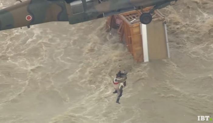 Fueron rescatados en un helicóptero