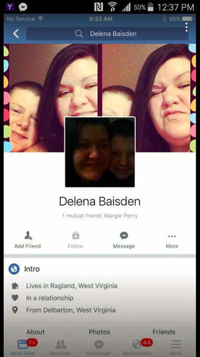 Perfil de facebook de Delena