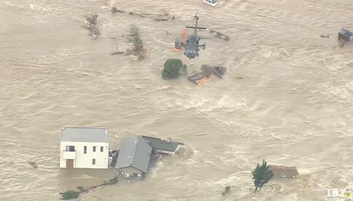Terrible inundación en Japón