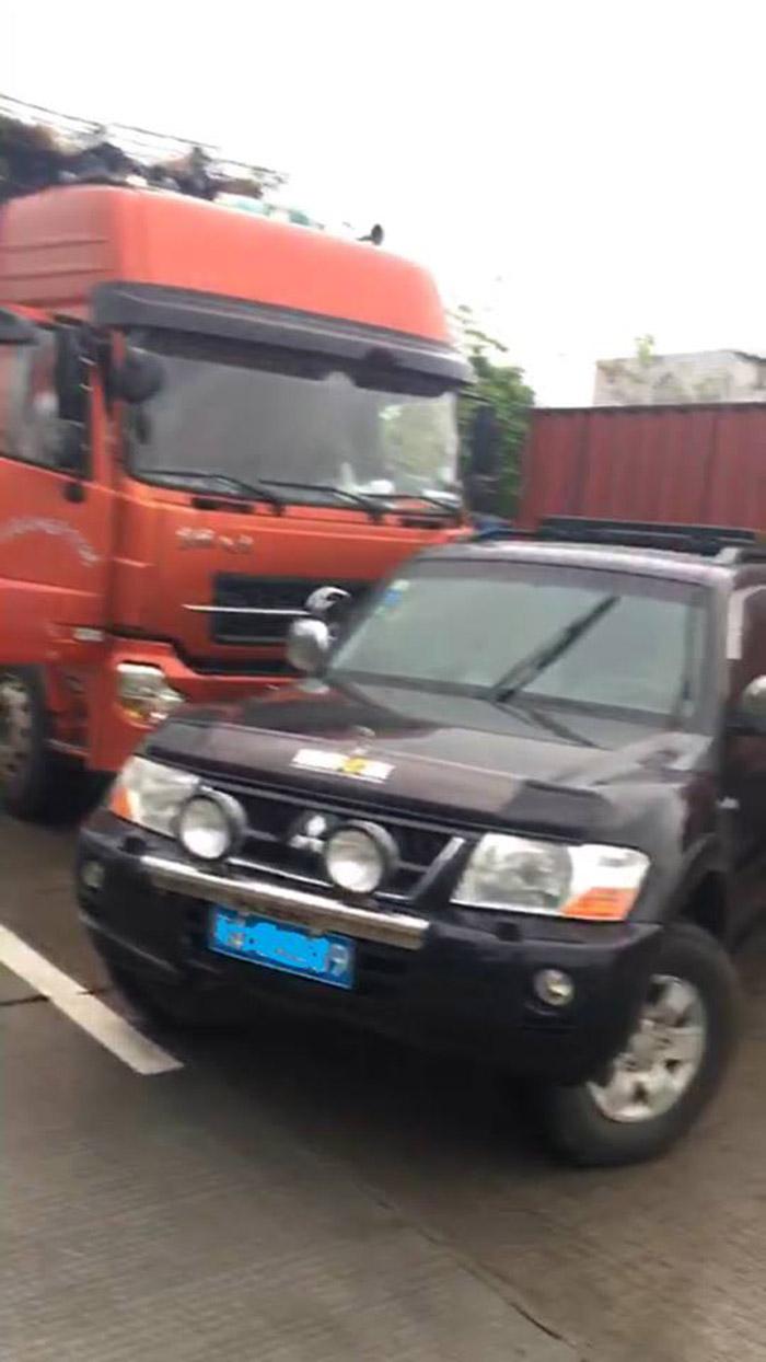Camión detenido