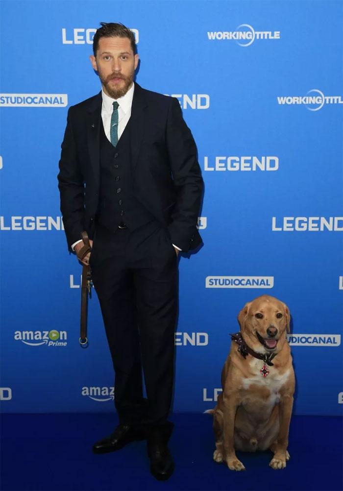 Tom Hardy y su perro Woody
