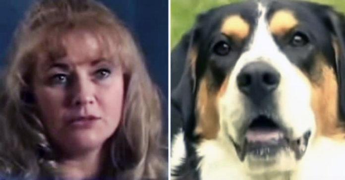 Perro muerde la mano de la madre y salva su vida