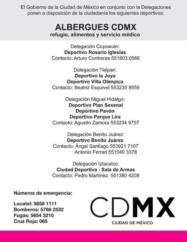 Albergues México