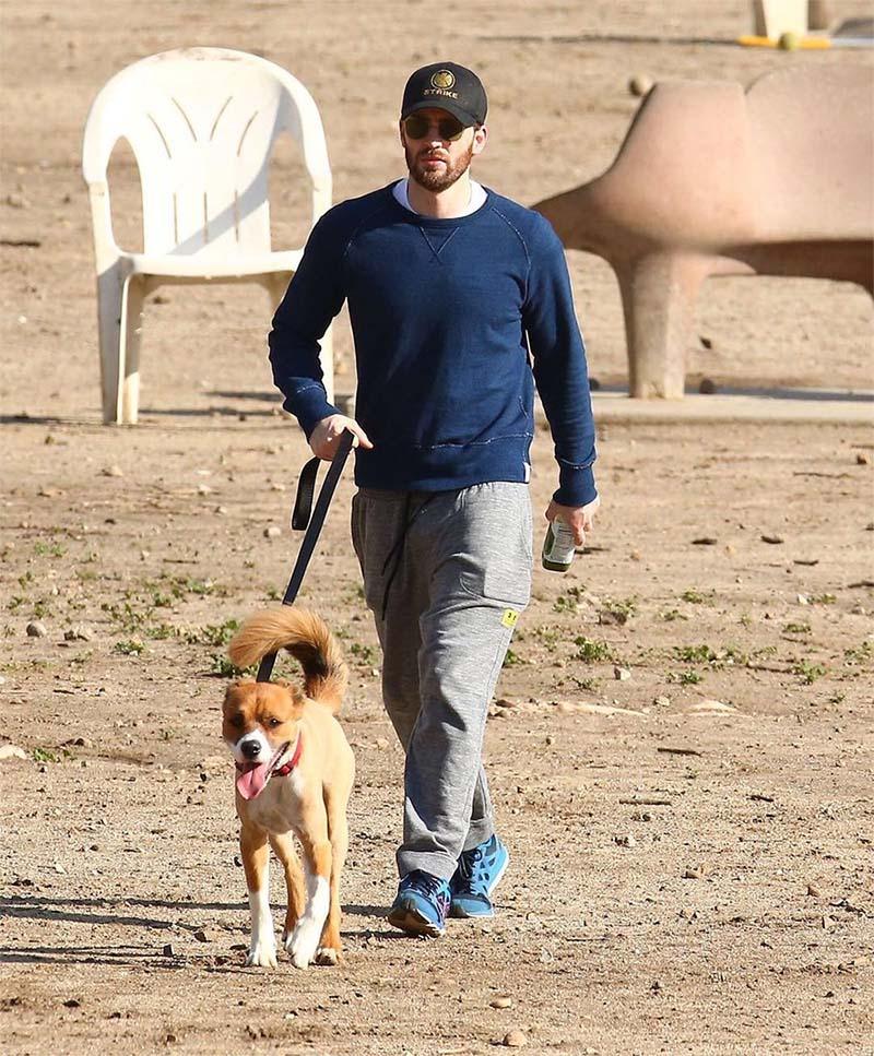 Chris y su perro Dodger