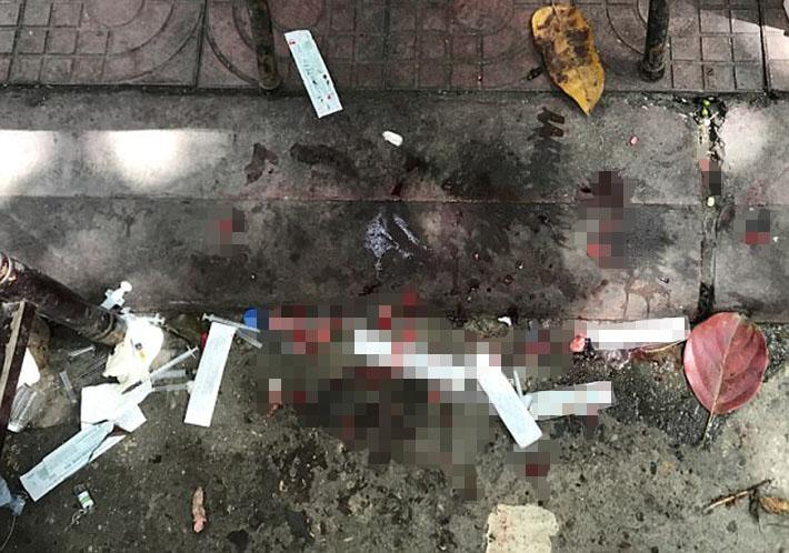 Sangre en el piso