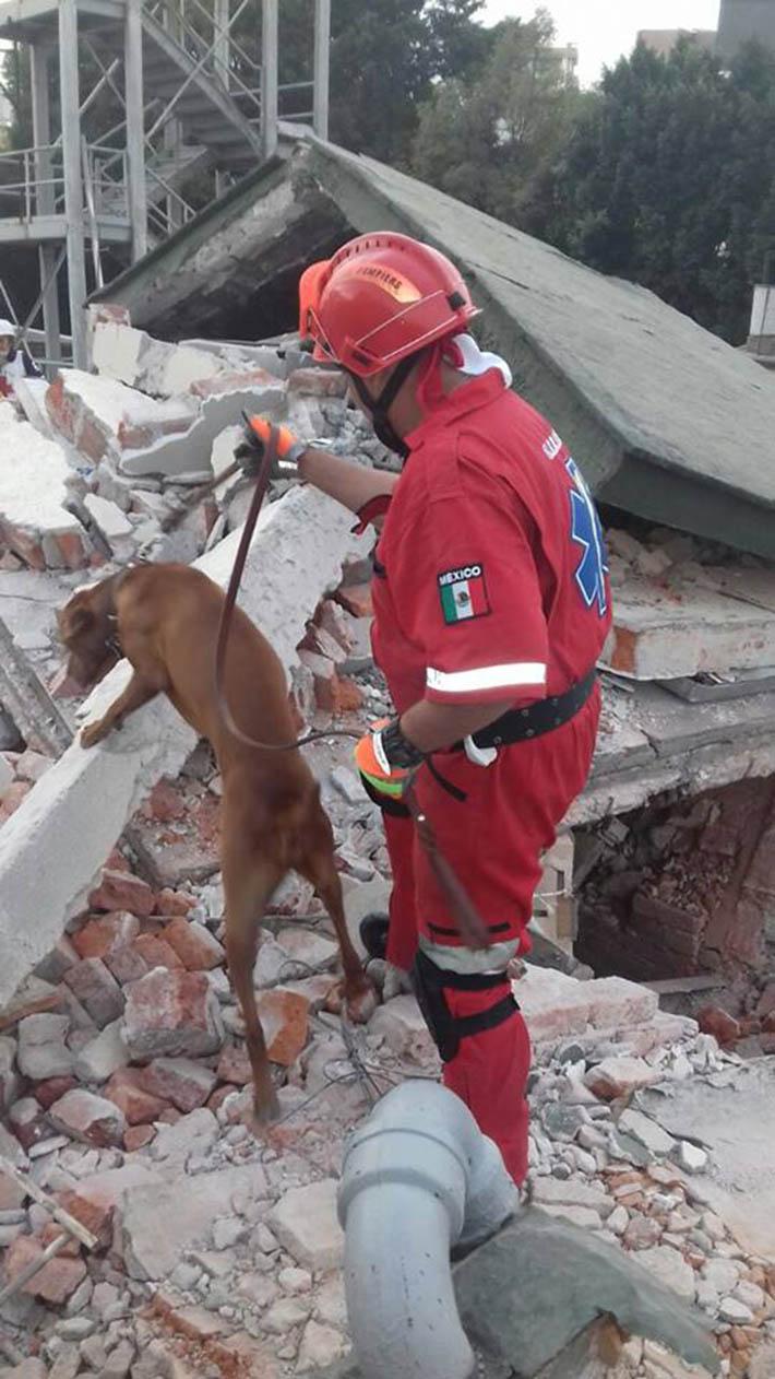 Titán rescatando personas