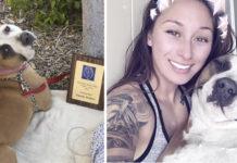 Mujer toma bolso de lona y escapa de incendio con su perro