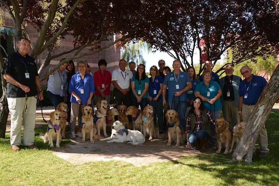 Perros de terapia y manejadores
