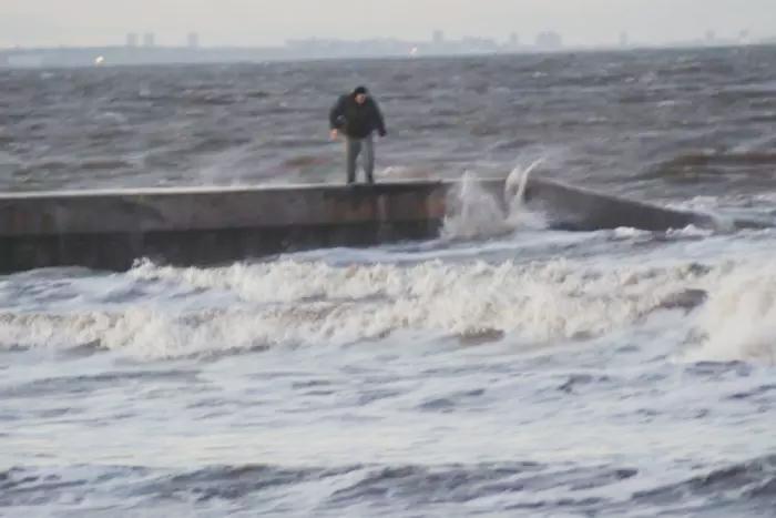 Hombre lanza a un galgo al mar