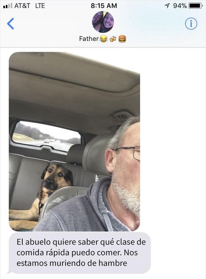Abuelo cuida a Chance