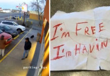Hombre abandona a un perro en Dunkin Donuts