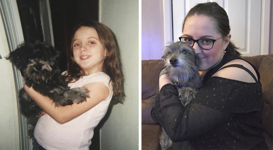 Adoptó sin saber a su perro de la infancia que habia abandonado