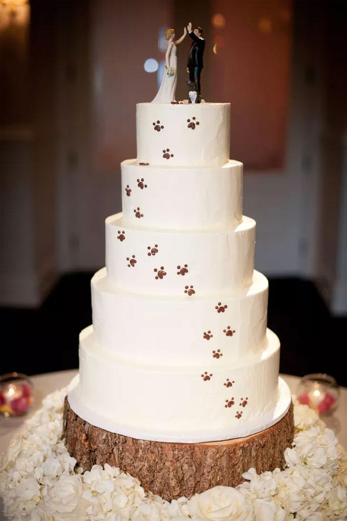 Pastel de boda animal lover