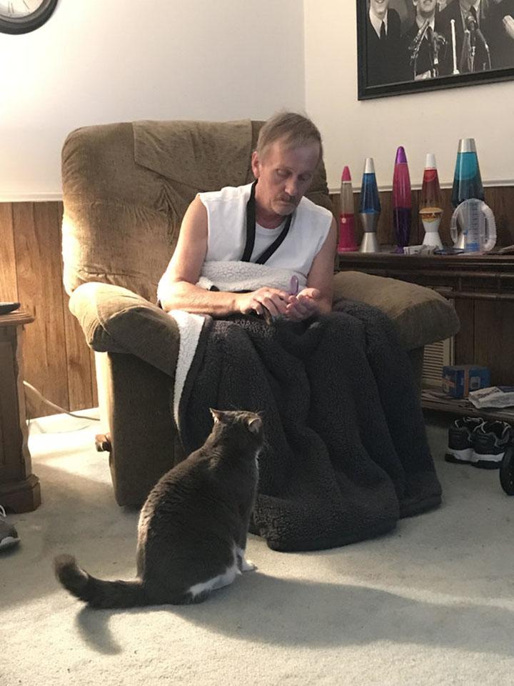 Shotzie y su papá