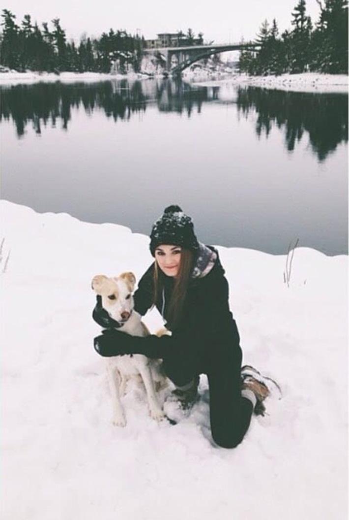 Finn en la nieve