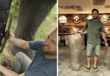 Héroe ayuda a los animales a volver a caminar
