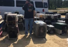 Van que transportaba animales tras alerta del huracán Florecen se averió