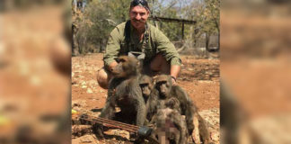 comisionado de pesca y caza presume fotos de trofeos