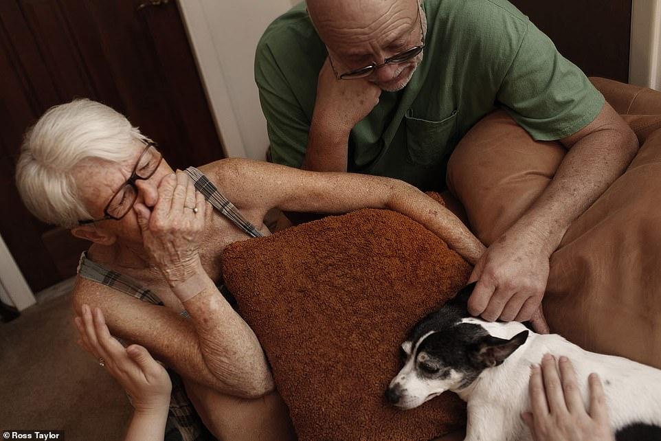 Marquita Leibe y su perro
