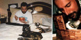 Fotos de Freddie Mercury con sus gatos demuestra como los amaba