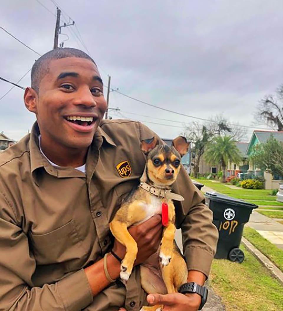 Jay y perrito llamado Cusha