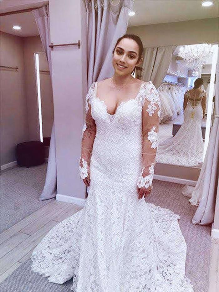 Jennifer con su vestido