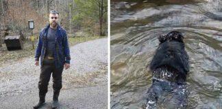 Hombre salta a río congelado y salva a un pequeño oso que se ahogaba