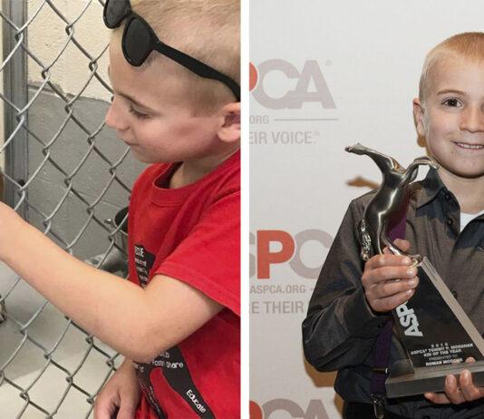Niño de 7 años ha salvado a mas de 1200 perros