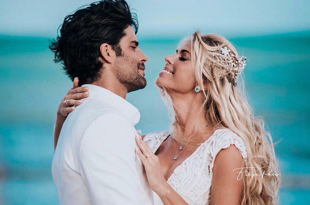 Caroline y su esposo